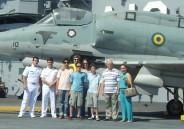 Alunos do 6º ano EFII visitam o porta aviões em São Paulo