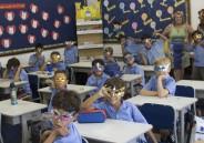 Confecção de máscaras pelos alunos do 2º ano do Ensino Fundamental I
