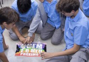 """""""Pausa Beneditina"""" com alunos do 7º ano EFII"""