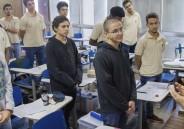 Dom Abade Filipe abençoa alunos da 3ª série EM