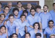 Em Dia Temático, 3ª série EM veste azul e cinza